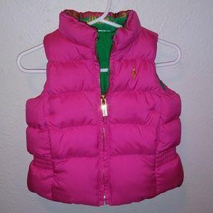 Ralph Lauren Reversible Puffer Baby Girl Vest